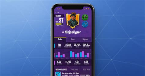 fortnite battle royale mobile companion app
