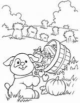 Coloring Pages Farm Print sketch template