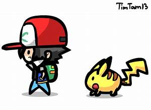 Chibi Ash and Pikachu animation by TimTam13 on DeviantArt