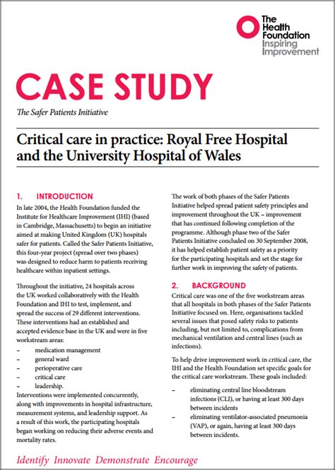 safer patients initiative case studies  health