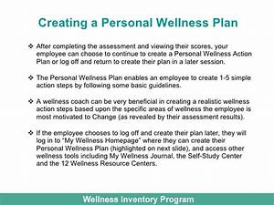 wellness inventory for employee wellness With personal wellness plan template