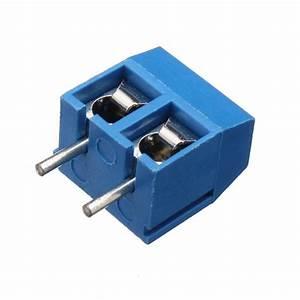 Excellway U00ae Dr66 50pcs 2pins Printed Circuit Board Connector Block Screw Termina