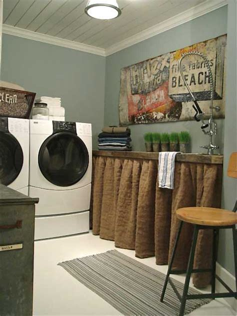 Rustic Chic Laundry Room Decor  Rustic Crafts & Chic Decor
