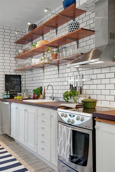 credence cuisine carrelage metro le carrelage métro blanc fait fureur dans la cuisine