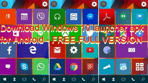 windows 10 launcher apk for android free version