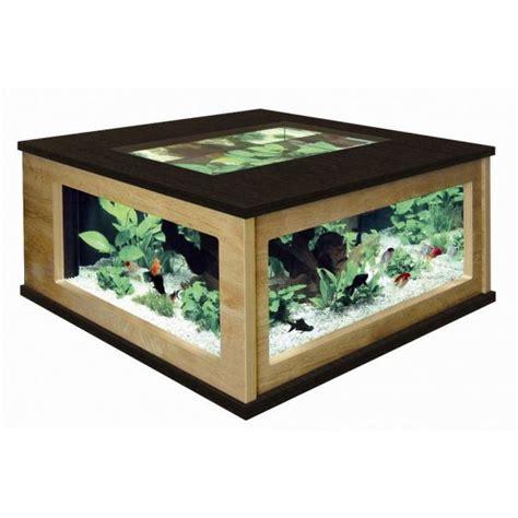 aquarium en verre pas cher table basse aquarium
