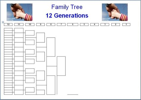 12 Generation Family Tree Template Family History And Genealogy Suppliers Parish Chest