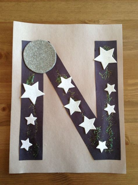 night craft preschool craft letter