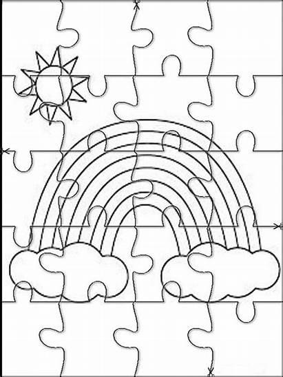 Colorear Jigsaw Rainbow Puzzles Arco Recortar Iris