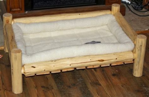 large handmade rustic log pet bed   shipping