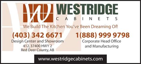 westridge cabinets  liberty ave red deer county ab
