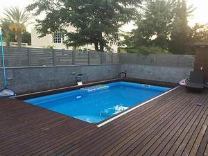 Prix Petite Piscine : petite piscine polyester rectangulaire star 5 avec bloc ~ Premium-room.com Idées de Décoration
