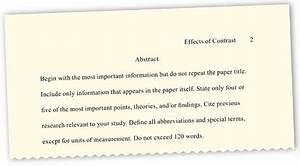 best photos of sample apa paragraph introduction apa With apa abstract page template