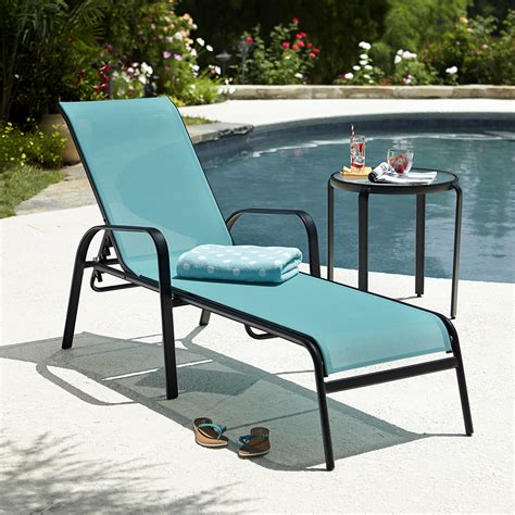 blue chaise lounge essential garden bartlett solid stacking lounge blue