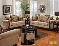 furniture living room Delray Traditional Sofa & Love Seat Living Room Furniture Set Taupe Chenille NEW | eBay
