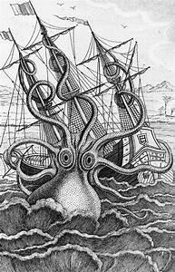 Giant Octopus Illustration From L Histoire Naturelle ...