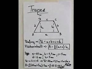 Flächeninhalt Berechnen Parallelogramm : trapez fl cheninhalt und umfang youtube ~ Themetempest.com Abrechnung