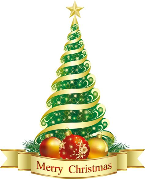 merry christmas tree clipart