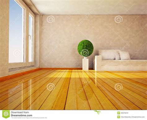 plante dans la chambre plante verte ronde dans la chambre illustration stock