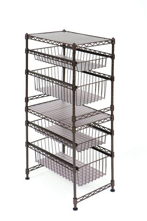 wire shelving for kitchen cabinets sliding drawer rack shelf steel wire cabinet stackable 1921