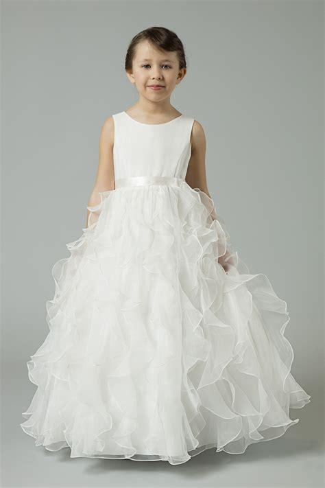 organza flower girl dress  ruffled skirt