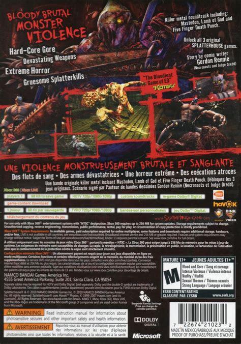 Splatterhouse 2010 Playstation 3 Box Cover Art Mobygames