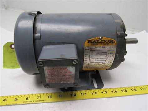 Baldor Electric Motors by Baldor M3537 1 2 Hp Electric Motor 3ph 208 230 460v