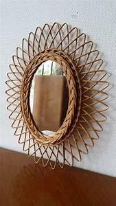 Petit Miroir Rotin : un petit miroir soleil ovale en rotin mirror mirror pinterest ~ Melissatoandfro.com Idées de Décoration