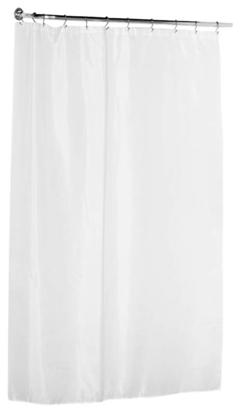 fabric 84 quot shower curtain white traditional