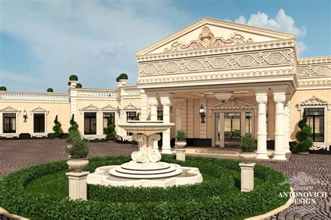 professional villas exterior design  doha qatar