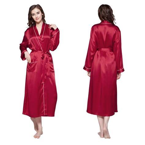robe de chambre longue robe de chambre longue en soie bordure contraste