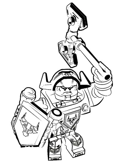 lego nexo nights coloring pages    print
