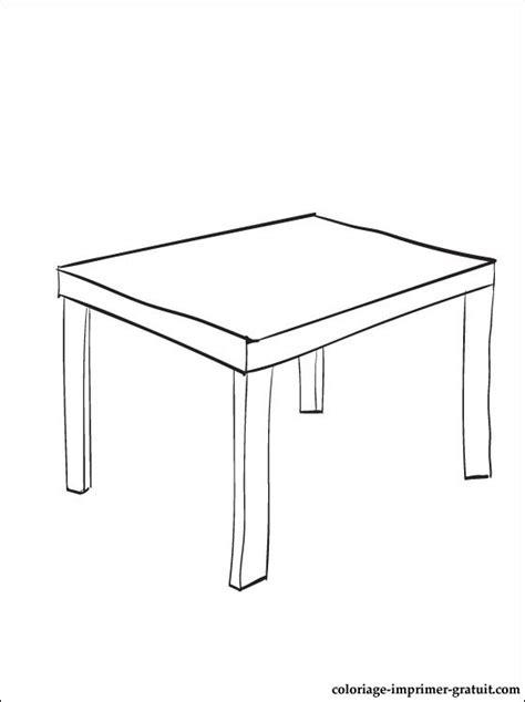 Coloriage Table A Imprimer  Coloriage à Imprimer Gratuit