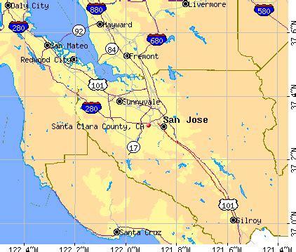 Santa Clara County CA Map