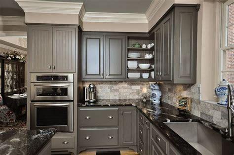 Grey cabinets, tan walls, white trim   Kitchen   Pinterest