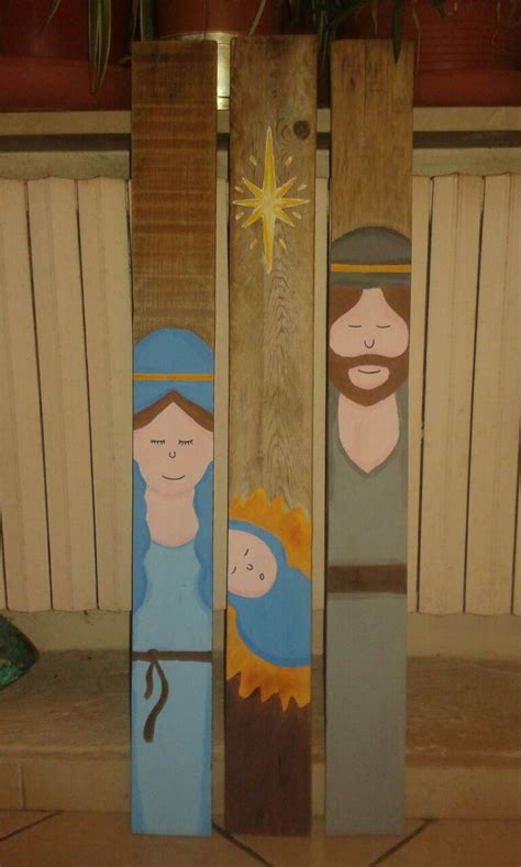 pallet nativity scene christmas diy hand painted