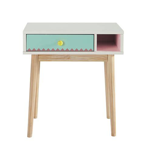 chaise de bureau fille bureau enfant en bois blanc l 60 cm berlingot maisons du