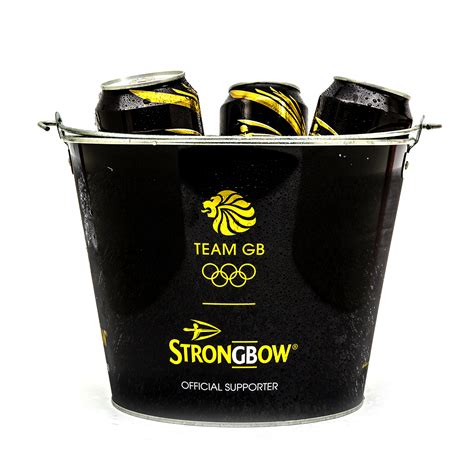 strongbow black metal ice bucket party drink holder cooler