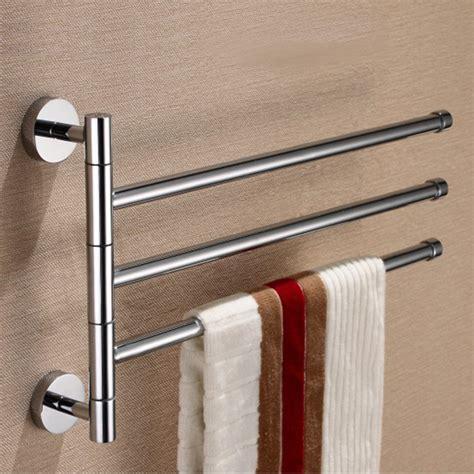 brass 3 rod rotating bathroom towel bar clothes rack holder chrome polishing ebay