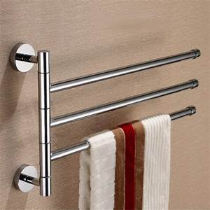 Brass rod rotating bathroom towel bar clothes rack