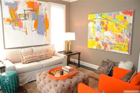 Living Room Decor With Orange Walls by 40 Orange Living Room Ideas Photos