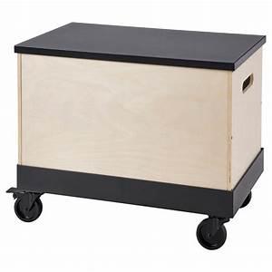 R U00c5varor Tavolino Con Rotelle - Betulla Compensato  Nero