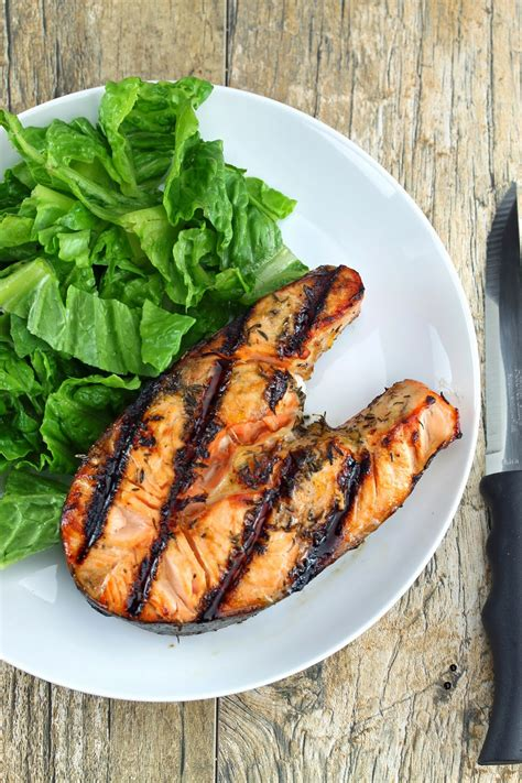 how to grill salmon on a gas grill orange ginger grilled salmon steaks thestayathomechef com