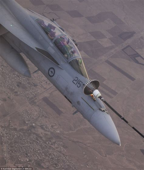 Australia's Raaf Hornets Pictured Hovering Above Iraq