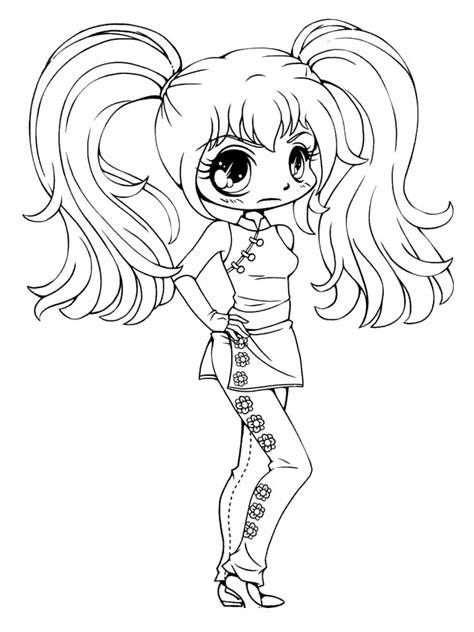 gacha life coloring pages chibi  girls  printable