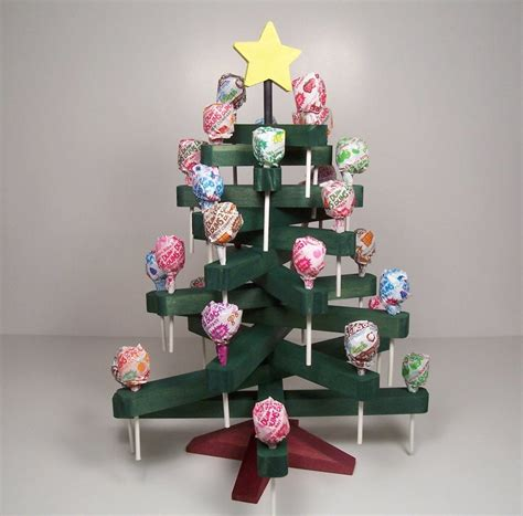 wooden lollipop christmas candy tree holiday decoration