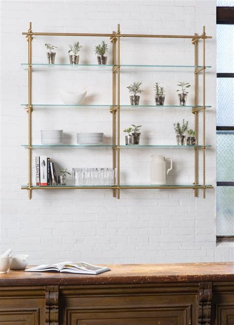 Open Kitchen Shelves using our Collector's Shelving System