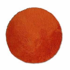 tapis orange shaggy agathe diam650 mm leroy merlin With tapis rond orange