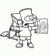 Simpsons Adult Coloring Lisa Simpson sketch template