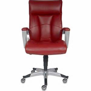 sealy roma bonded leather executive chair red staples